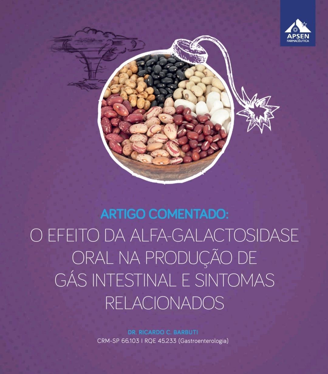 O efeito da alfa-galactosidase oral na produção de gás intestinal e sintomas relacionados